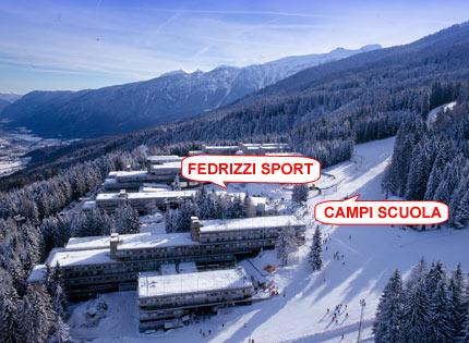 Fedrizzi sport noleggio sci marilleva - Residence sulle piste da sci con piscina ...